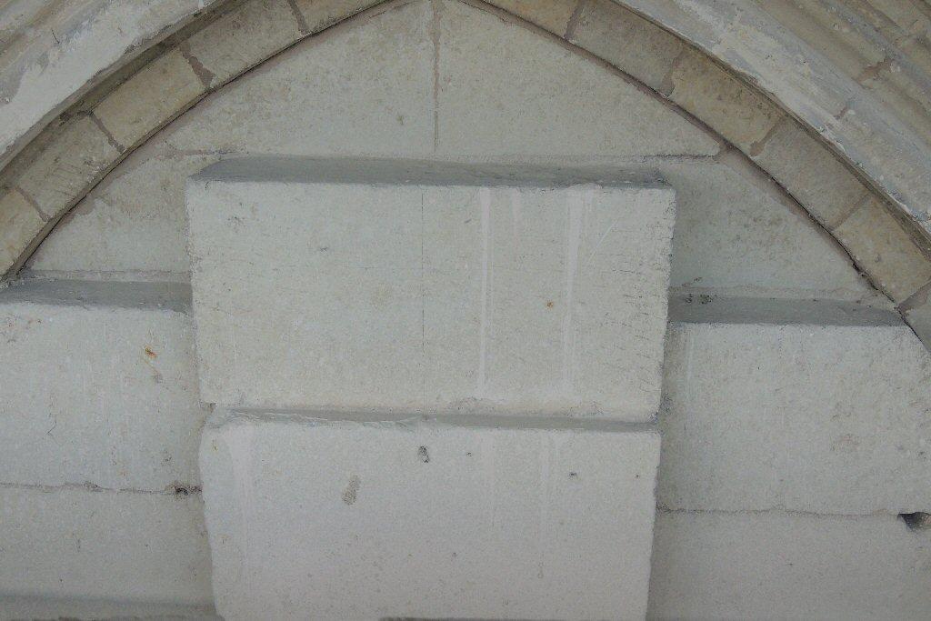 La pierre du tympan installée en 1860